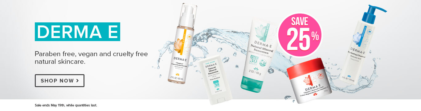 Save 25% on Derma E (Sun Feature)