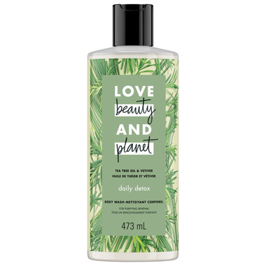 Love Beauty And Planet Tea Tree & Vetiver Daily Detox Body Wash