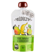 Rudolfs Organic Pear Banana Gooseberry Puree