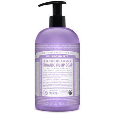 Dr. Bronner\'s 4-in-1 Sugar Lavender Organic Pump Soap