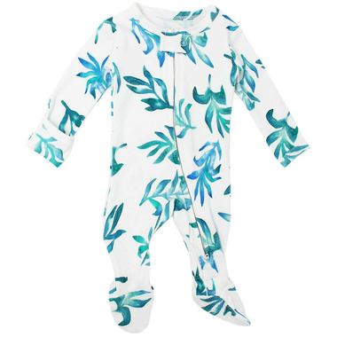 L\'oved Baby Organic Zipper Footed Overall Seaweed