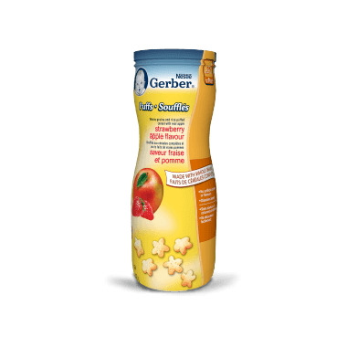 Gerber Graduates Toddler Snack Puffs Strawberry Apple