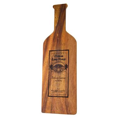 Ironwood Gourmet Acacia Wood Wine Bottle Board Bordeaux