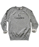 Province of Canada Le Canadien Mens French Terry Crewneck Heather Grey