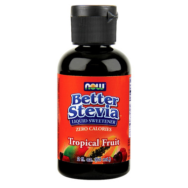 NOW Better Stevia Liquid Sweetener Tropical Fruit