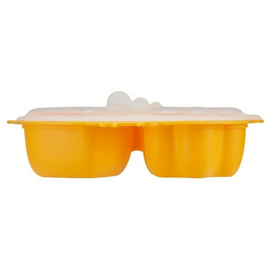 Innobaby Silicone Steamer Dish with Lid Yellow Chicken