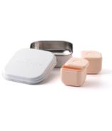 Miniware Grow Bento with 2 Sili Pods Snow + Peach