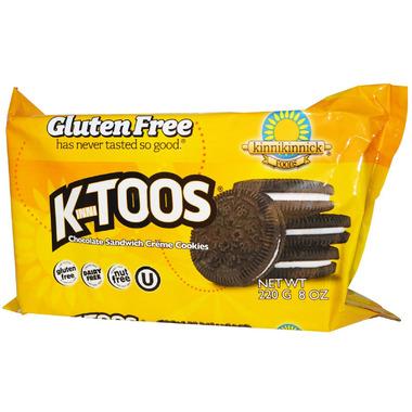 Kinnikinnick KinniTOOS Chocolate Vanilla Sandwich Cookies
