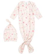 aden + anais Comfort Knit Perennial Gown + Hat Set 0-3M