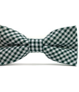 Mini Swag Green Gingham Bow Tie