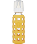 Lifefactory Glass Baby Bottle with Silicone Sleeve Mango