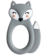 Little Cheeks Fox Silicone Teether Grey