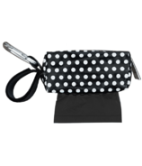 Oh Baby Bags Duffel Dispenser Set Black & White Dot