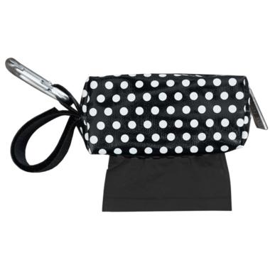 Oh Baby Bags Duffel Dispenser Set Black & White Dot