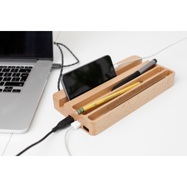 Kikkerland Desk Organizer with USB