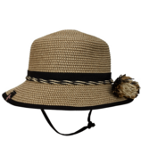 Calikids Mom & Me Straw Hat Black Kid Sized