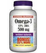 Webber Naturals Omega-3, 500 mg (EPA 300/ DHA 200)