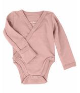 L'oved Baby Kimono Bodysuit Organic Mauve