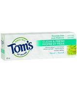 Tom's of Maine Clean & Fresh Dentifrice sans fluorure