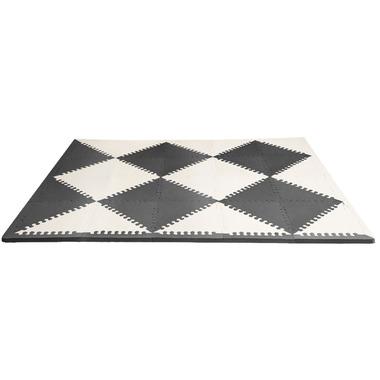 Skip Hop Playspot Geo Foam Floor Tiles Black and Cream