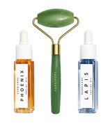 Herbivore De-Puff + Glow Mini Jade Roller Trio