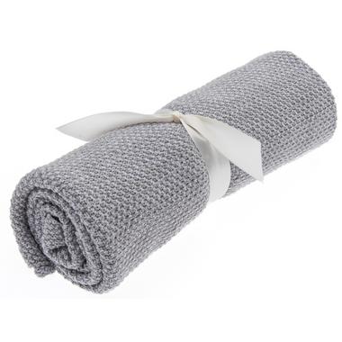 Beba Bean Grey Seed Stitch Blanket