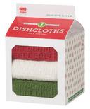 Now Designs Milk Carton Dishcloth Set Red, White & Green