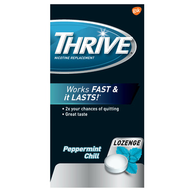 Thrive 2mg Nicotine Replacement Lozenges Peppermint Chill