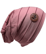 L&P Apparel Cotton Slouchy Beanie Elegant Pink & Night Ruby