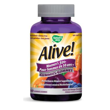 Nature\'s Way Alive! Women\'s 50+ Gummies MultiVitamin & Mineral Supplement