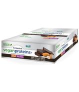 Boîte de barres protéines végétaliennes fermentées Proteins+ au chocolat noir et aux amandes de Genuine Health