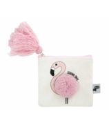 Yoobi Pom-Pom Coin Purse Flamingo