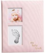 Pearhead Linen Babybook Pink