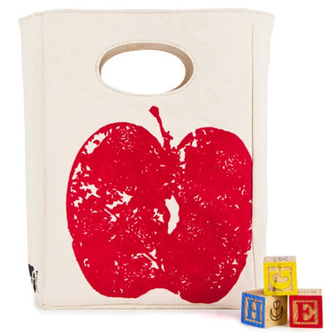 Fluf Red Apple Organic Lunch Bag