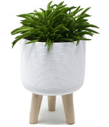 Natural Living Standing Planter Large White