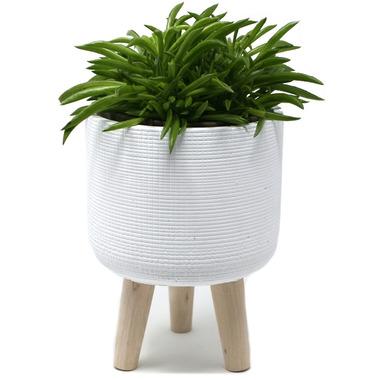 Natural Living Standing Planter Large White