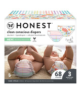 The Honest Company Diapers Club Box Rainbow Stripes + Flower Power Size 3