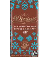 Divine Chocolate Milk Chocolate with Toffee & Sea Salt 38% Cocoa