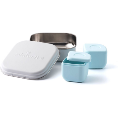 Miniware Grow Bento with 2 Sili Pods Snow + Aqua