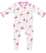 Kyte BABY Zippered Footie Flamingo