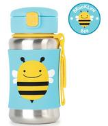 Skip Hop ZOO Stainless Steel Straw Bottle Bee
