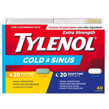 Tylenol Extra Strength Cold & Sinus Daytime/Nighttime Caplets