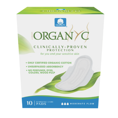 Organ(y)c 100% Organic Cotton Pads with Wings