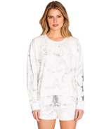 P.J. Salvage Marble Lounge Long Sleeve Top Ivory Marble Star
