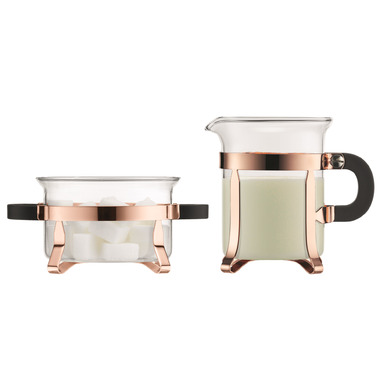 Bodum CHAMBORD Sugar and Creamer Set Copper