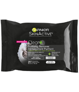 Garnier Clean + Purifying Remover Cleansing Towelettes For Oily Skin