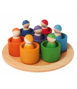 Grimm's Seven Wooden Rainbow Friends