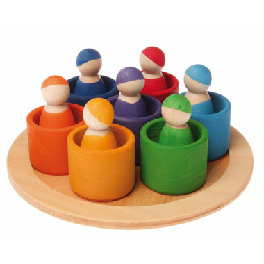 Grimm\'s Seven Wooden Rainbow Friends