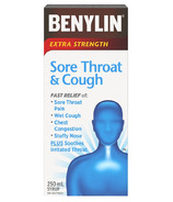 Benylin Extra Strength Sore Throat & Cough Syrup Medicine