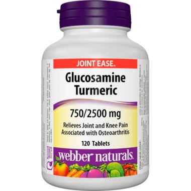 Webber Naturals Glucosamine Turmeric 750 mg/2500 mg
